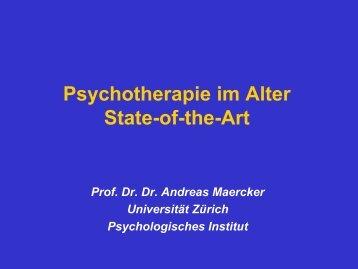 Psychotherapie bei älteren Menschen - state of the art