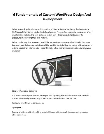 6 Fundamentals of Custom WordPress Design And Development