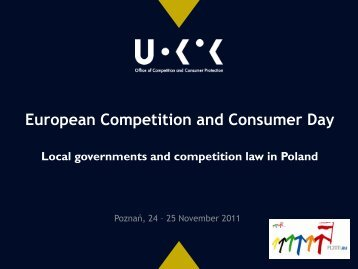 Local governments and competition law in Poland - UOKiK