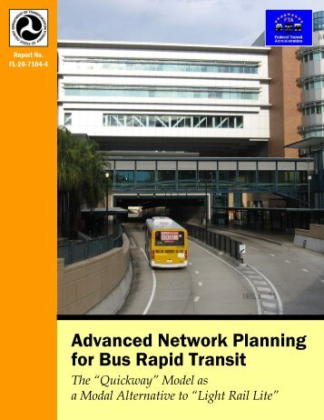 Advanced Network Planning for Bus Rapid Transit - Federal Transit ...