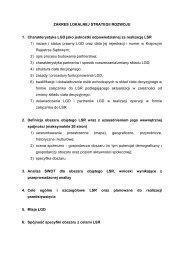 ZAKRES LOKALNEJ STRATEGII ROZWOJU 1 ... - Wrota Podlasia
