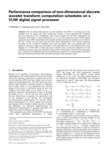 Performance comparison of two-dimensional discrete ... - IEEE Xplore