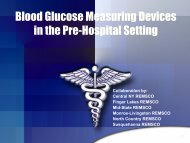 Blood Glucose Measuring Devices in the Pre-Hospital ... - CNY EMS