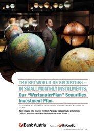Wertpapierplan - Bank Austria