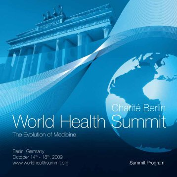 Complete Summit Program World Health Summit 2009