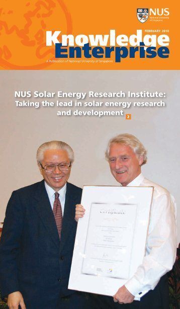 NUS Solar Energy Research Institute: - NewsHub - National ...