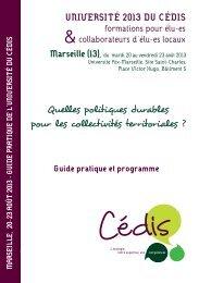 Quelles politiques durables pour les collectivités ... - Cédis Formation