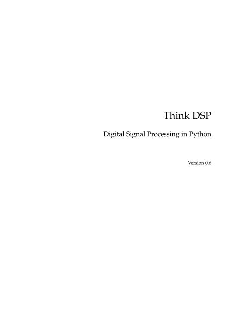 Think DSP Digital Signal Processing in Python