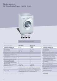 Sauber starten: die Waschmaschinen von myStart. - Siemens Home ...