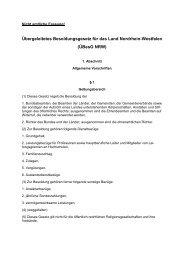 ÜBesG NRW - Finanzministerium NRW