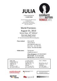 World Premiere: August 31, 2013 - Julia - der Film