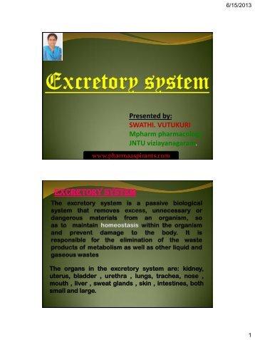 Excretory system - pharma aspirants