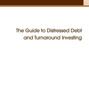 Guide to acquiring distressed debt   assignment (law)   loans.