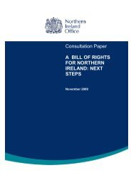 A bill of rights for Northern Ireland, next steps. - CAIN
