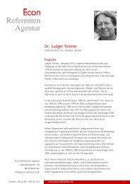 Dr. Ludger Volmer - Econ Referenten-Agentur