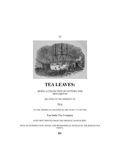 TEA LEAVES: - Yesterday Image