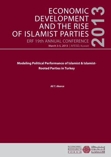 ECONOMIC DEVELOPMENT AND THE RISE OF ISLAMIST PARTIES