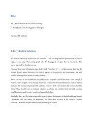 Titel 1. Part I Radical Solutions