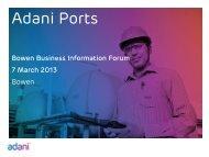 Adani Ports Presentation - Whitsundays Marketing and Development