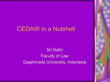 CEDAW in a Nutshell - LFIP