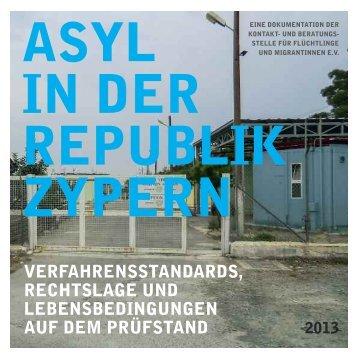 Asyl in der Republik Zypern - Borderline Europe