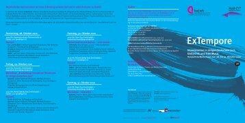 Programm Ex Tempore 28.-31. Oktober 2010 - Hochschule für Musik ...
