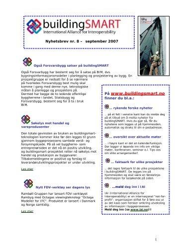 Nyhetsbrevet for september - buildingSMART