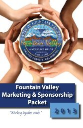 Sponsor Packet - City of Fountain Valley