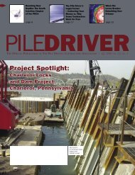 Project Spotlight - Pile Driving Contractors Association