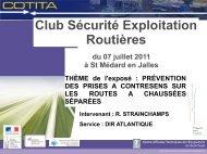 Club Sécurité Exploitation Routières - CoTITA