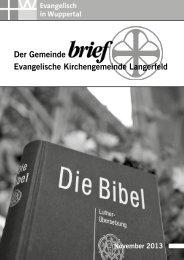 Gemeindebrief 02/2006 - Evangelische Kirchengemeinde Langerfeld