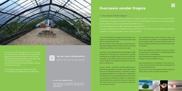 Duurzaam zonder Dogma - op ten noort blijdenstein architecten ...