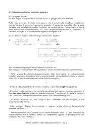 4.1. Subordinate del verbo: oggettive e ... - Adrianocolombo.it