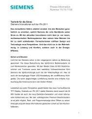 Presse-Information Nummer 15-15-1109 - Siemens Hausgeräte
