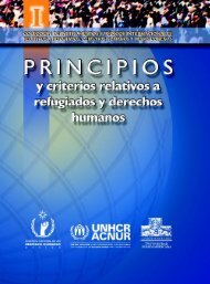 Principios y criterios relativos a refugiados y derechos humanos