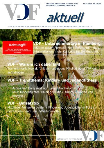 VDF aktuell Nr.20, 13.06.07 - Hier entsteht eine neue Internetpräsenz
