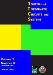 JOURNAL of INTEGRATED CIRCUITS and SYSTEMS ... - SBMicro