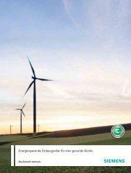 Energiesparende Einbaugeräte Herbst 2010 - Siemens Home ...