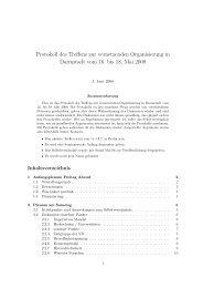 Protokolle des Treffens in Darmstadt im Mai 08 - Bildung schadet nicht