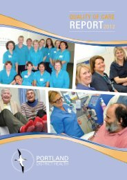 REPORT2012 - South West Alliance of Rural Health