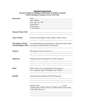 Sample Adult Informed Consent Form College Of Education San