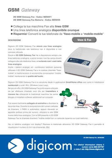 2G GSM Gateway Fax - Digicom