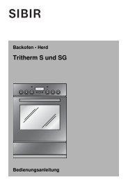 Tritherm S und SG - Sibir