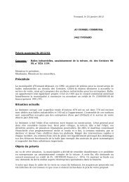 Préavis 2012/02 Halles indutrielles, assainissement de la ... - Yvonand