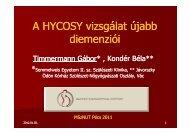 HYCOSY vizsgálat újabb dimenziói - Dr. Timmermann Gábor