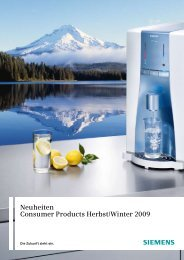 Neuheiten Consumer Products Herbst/Winter 2009 - Siemens