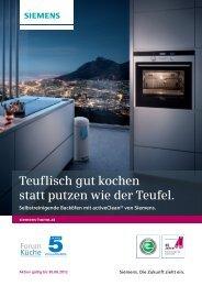 Teuflisch gut kochen statt putzen wie der Teufel. - Siemens