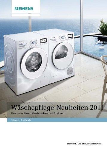 Wäschepflege-Neuheiten 2011 - Siemens Home Appliances