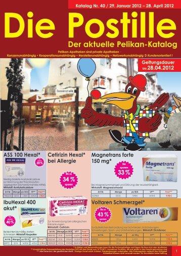 """Einfach """"Pelikan-Apotheke"""" auf Face- book eingeben und auf ..."""