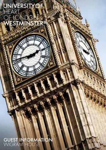HEART OF LONDON - University of Westminster